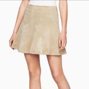 BCBG Maxazria Suede Beige Skirt